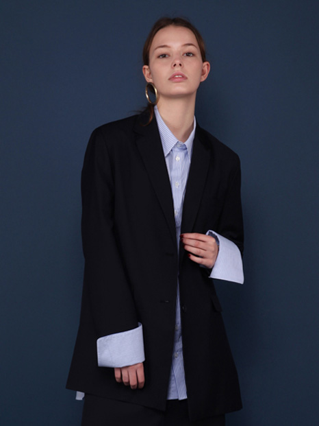 16SS SIDE SLIT BLAZER NAVY