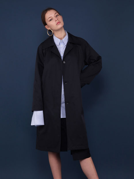 16SS OVERSIZED TRENCH COAT NAVY