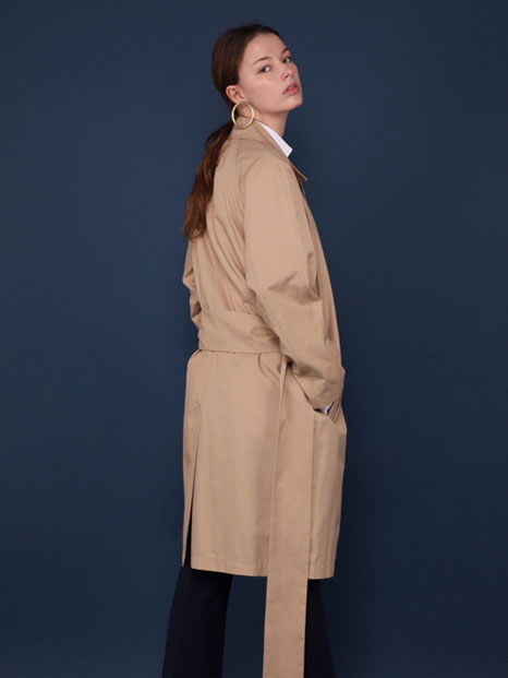 16SS OVERSIZED TRENCH COAT BEIGE