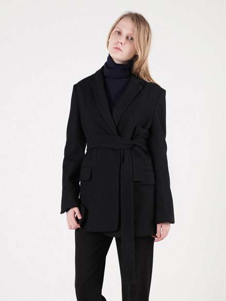 15FW SIDE VENTED BLAZER BLACK