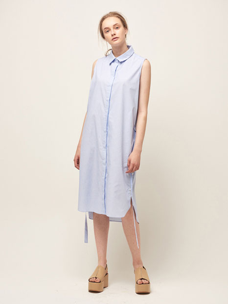 16RESORT SLEEVELESS SHIRT DRESS SKY