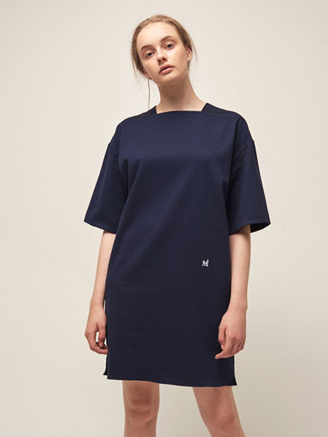 16RESORT SQUARE NECK DRESS NAVY