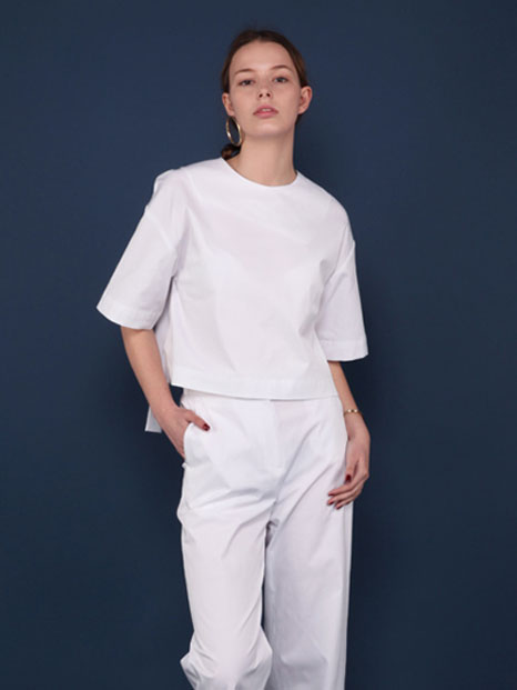 16SS CROPPED TIE TOP WHITE