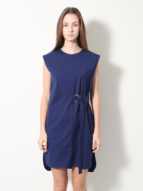 15SS STRAP SHIRT DRESS BLUE
