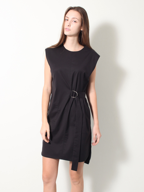 15SS STRAP SHIRT DRESS BLACK