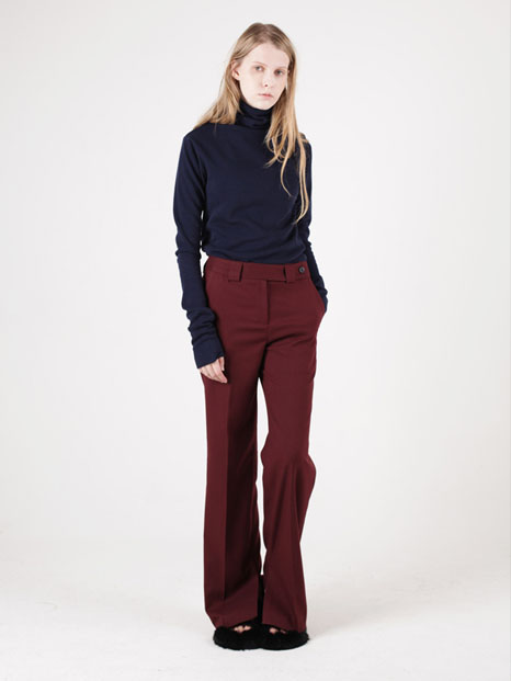 15FW INSIDE VENTED TROUSERS BURGUNDY