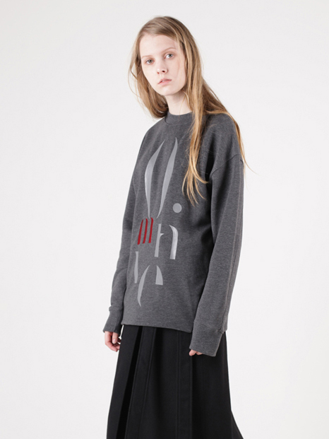 15FW MOTIVE SWEATSHIRT CHARCOAL