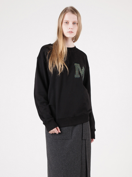 15FW MOHAN APPLIQUE SWEATSHIRT BLACK