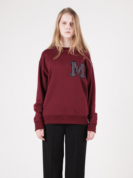 15FW MOHAN APPLIQUE SWEATSHIRT BURGUNDY