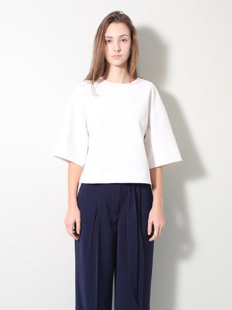 15SS CROPPED BOXY TOP WHITE