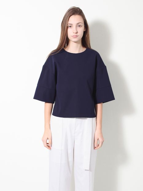 15SS CROPPED BOXY TOP NAVY