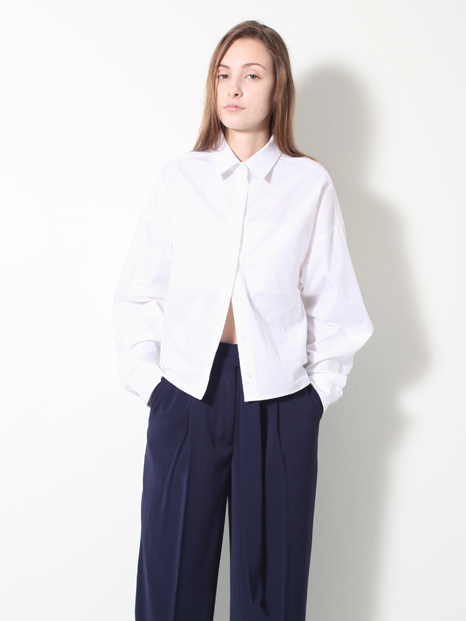 15SS CROPPED BOXY SHIRT WHITE