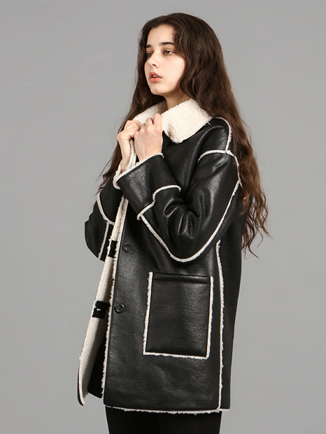 Reversable Lambskin Coat