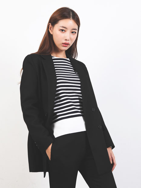 SIMPLE TAILORED JACKET BLACK