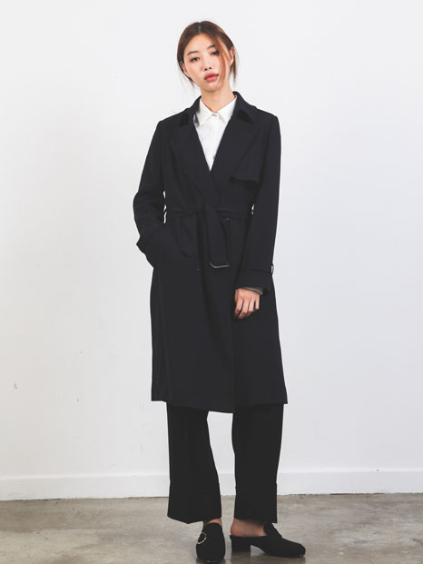 BASIC TRENCH COAT NAVY