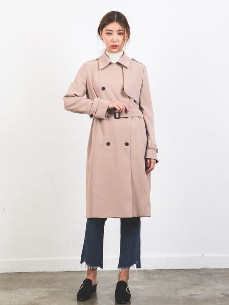 BASIC TRENCH COAT BEIGE