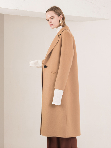 16FW SINGLE BUTTON HAND MADE COAT BEIGE
