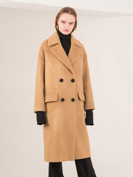 16FW OVERSIZED WOOL COAT BEIGE