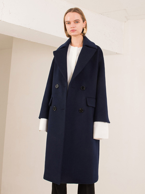 16FW OVERSIZED WOOL COAT NAVY