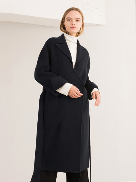 16FW VEST LAYERED HANDMADE COAT NAVY
