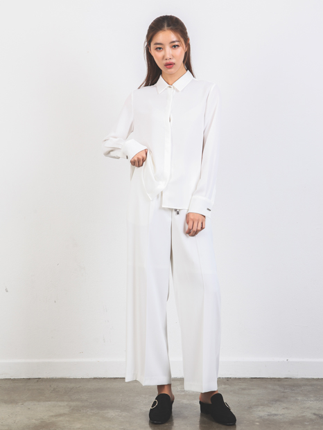 STRAIGHT WIDE PANTS IVORY