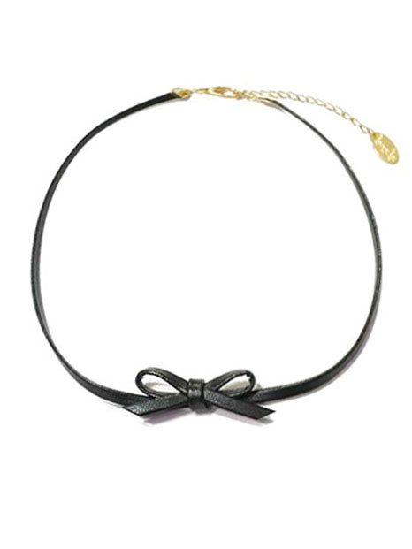 bpb ribbon choker - black