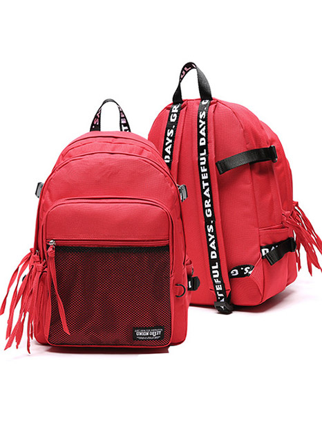 3D MESH BACK PACK RED