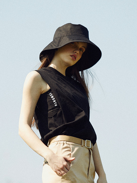 [13month]17hot summer sleeveless top-vrassiere set(black)
