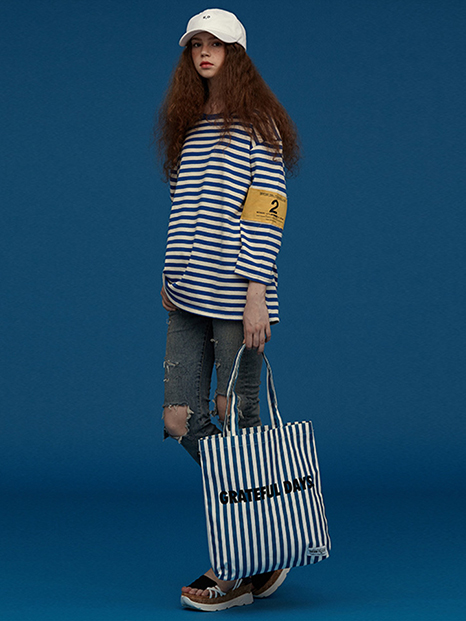 [UNION OBJET]SUNNYECO STRIPE - AQUA BLUE