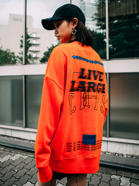 LL OVERFIT SWEATSHIRT ORANGE