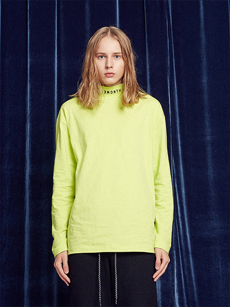 [13month]TURTLENECK LONG SLEEVED TEE (LIME)