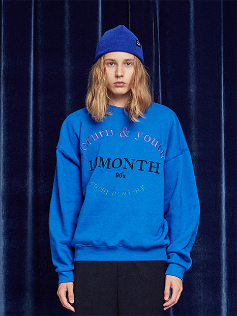 [13month]RETURN AND YOUTH SWEATSHIRT (BLUE)