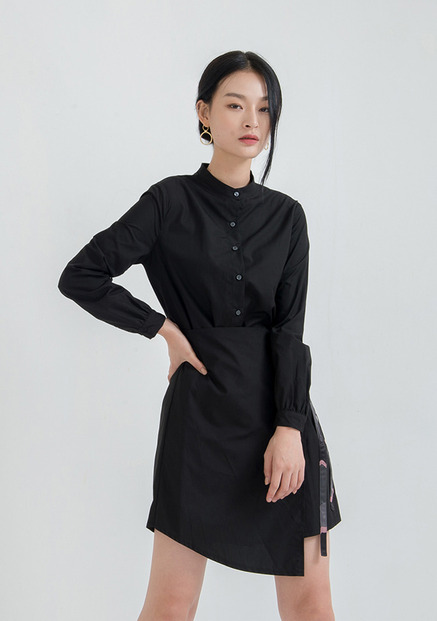 [NU PARCC]Wrap Shirtdress
