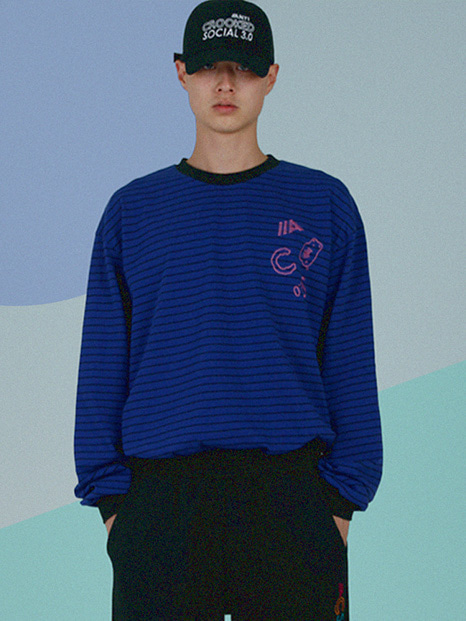 [APOC]ACS3.0 Stripe Longsleeved T-shirts_Blue