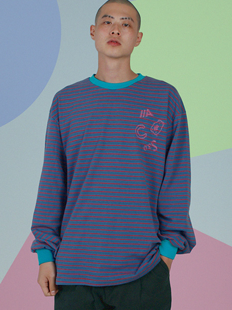 [APOC]ACS3.0 Stripe Longsleeved T-shirts_BlueGrey