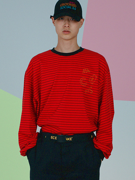 [APOC]ACS3.0 Stripe Longsleeved T-shirts_Red