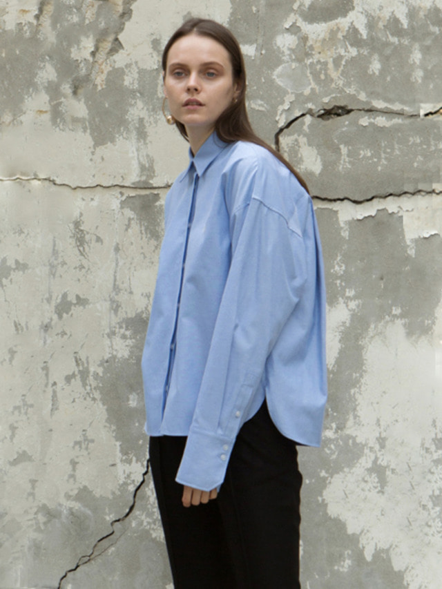 17FW BACK DART VOLUME SHIRT SKY BLUE