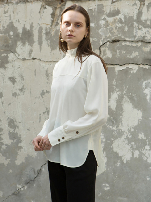 17FW BACK TIE BLOUSE IVORY
