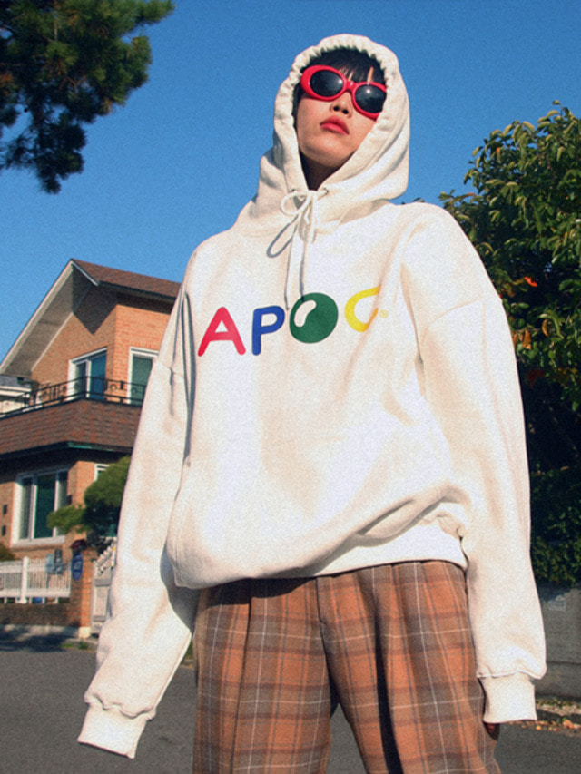 [APOC]Multi Color Logo hoodie_Offwhite