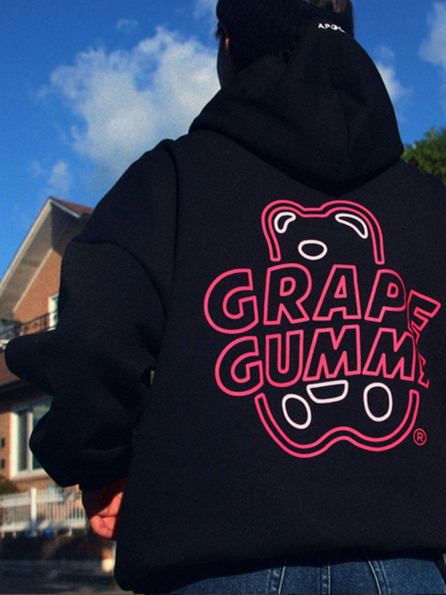 [APOC]Grape Gummy Hoodie Ver.2_Black