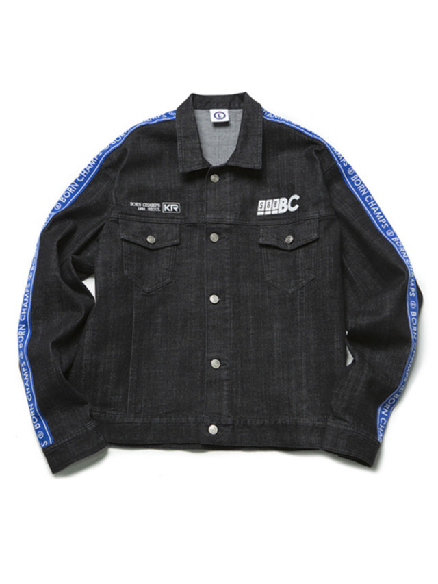 [BORN CHAMPS]BC IB DENIM JACKET 01 BLACK CEQCMJK02BK