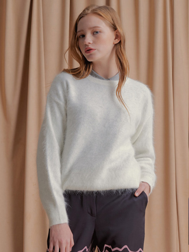 [NU PARCC]17F/W High Angora Knit WHITE
