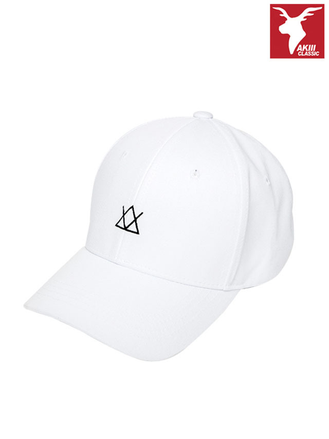 AKIIICLASSIC ICON BALL CAP WHITE