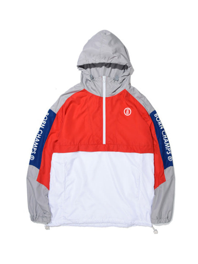 [BORN CHAMPS]BC LINE COLOR ANORAK RED CERAMJK02RE