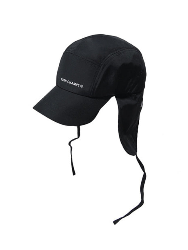 [BORN CHAMPS]BC EAR FLAP CAP BLACK CERFMCA04BK