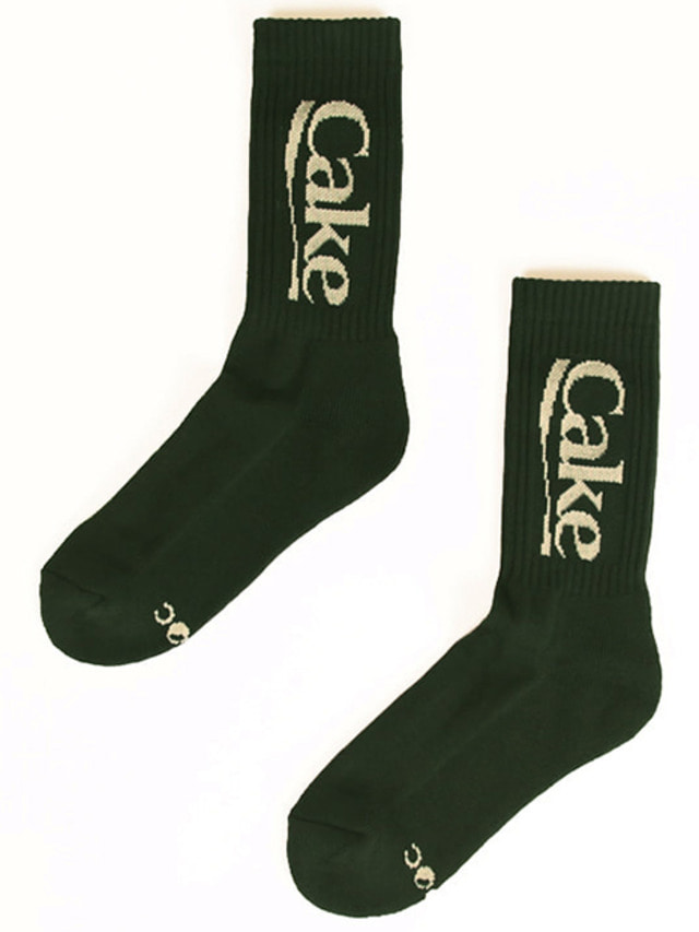 [A PIECE OF CAKE]Cake Logo Socks_Green