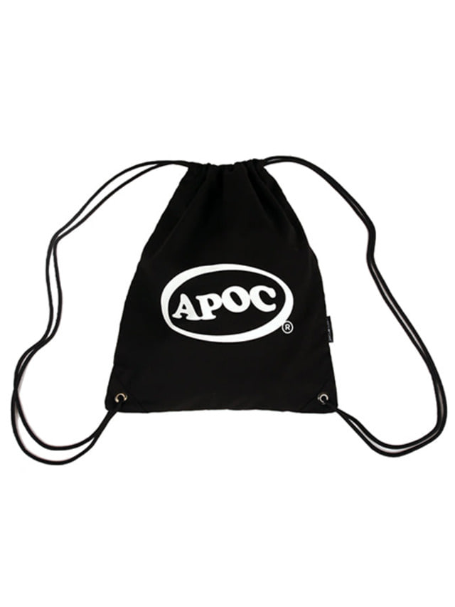 [A PIECE OF CAKE]Oval Logo Gym Bag_Black