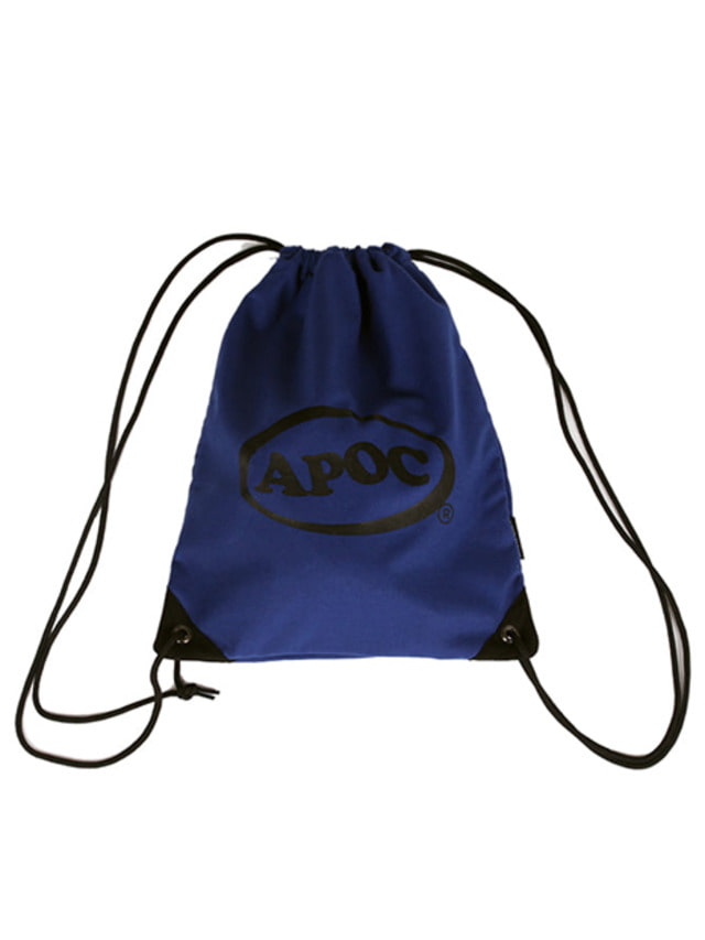 [A PIECE OF CAKE]Oval Logo Gym Bag_Blue