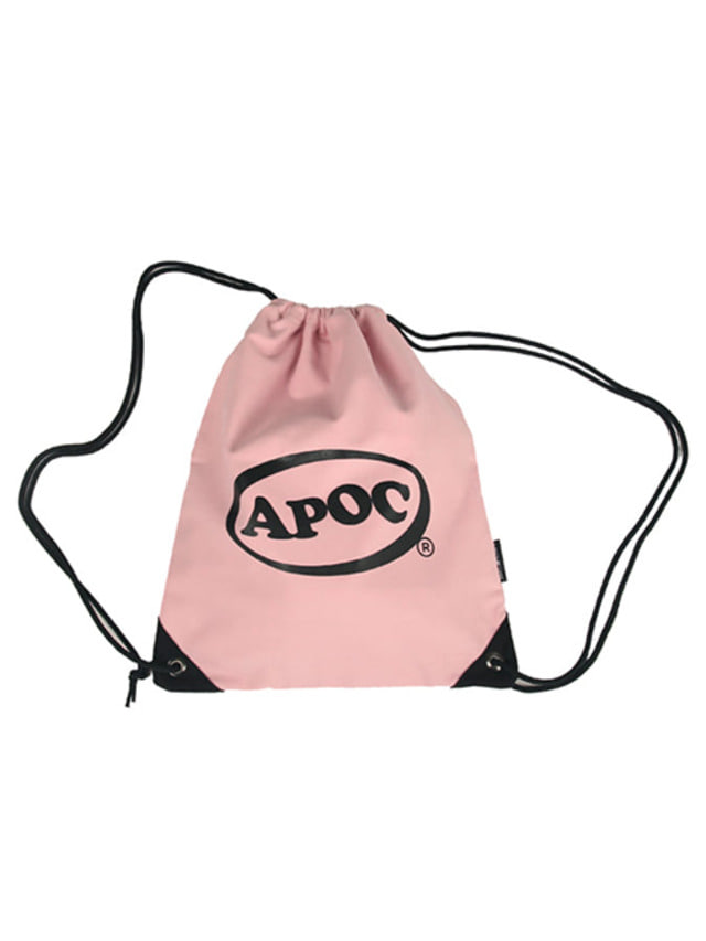 [A PIECE OF CAKE]Oval Logo Gym Bag_Pink