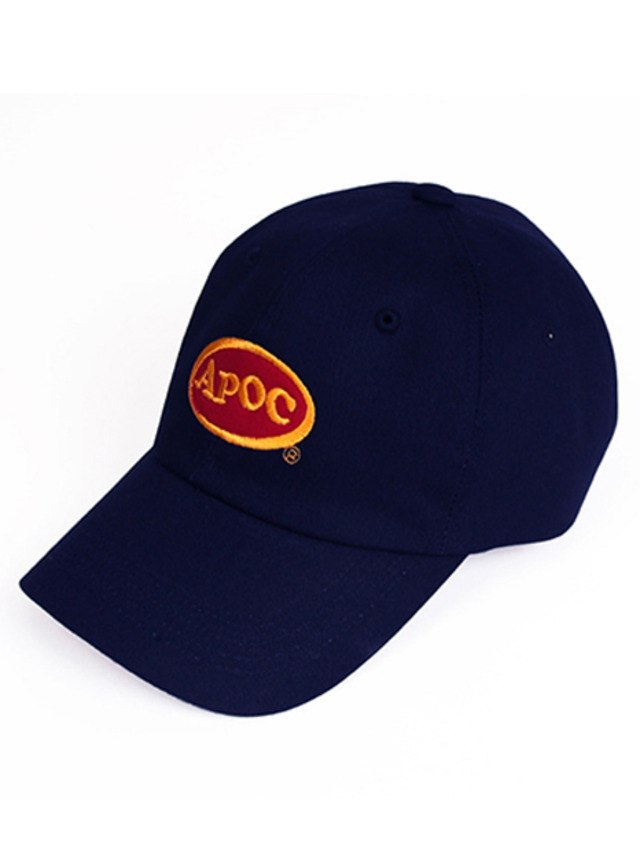 [A PIECE OF CAKE]Oval Logo Baseball Cap_Navy
